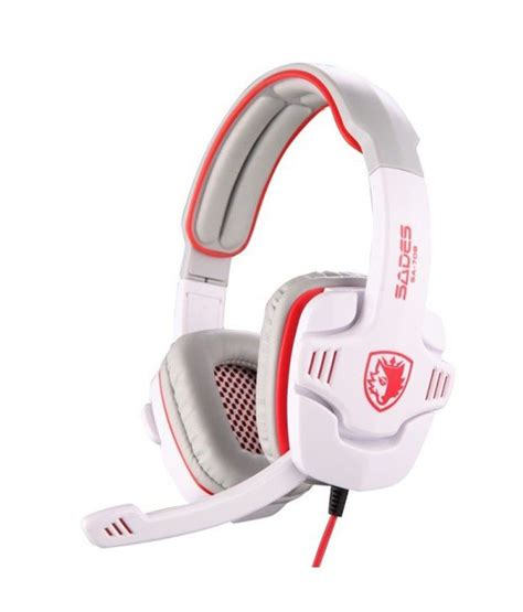 Headset Gaming Sades Sa 708 buy sades sa 708 ear headphone stereo gaming headset with mic white at best price