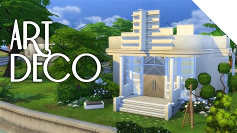 Glass Roof House little art deco the sims 4 build youtube