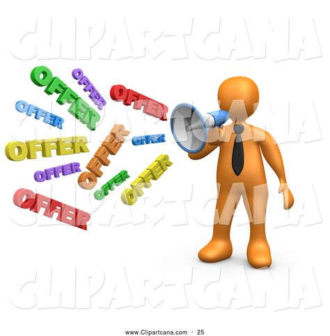 sales and marketing clipart offer through a megaphone