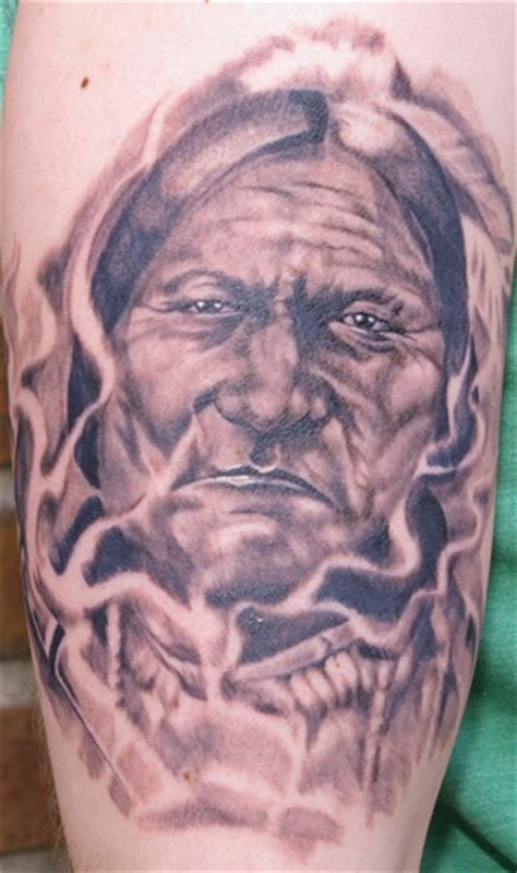 sitting bull tattoo brandon heffron sitting bull