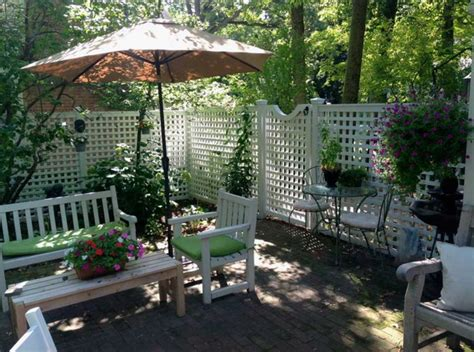 patio fence designs white patio fences ideas with semi privacy design home