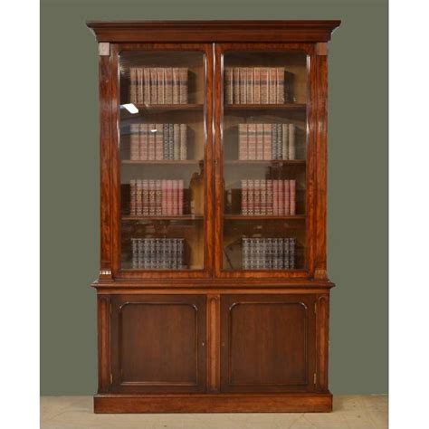 Library Bookcase Magnificent Beautifully Figured Mahogany William Iv
