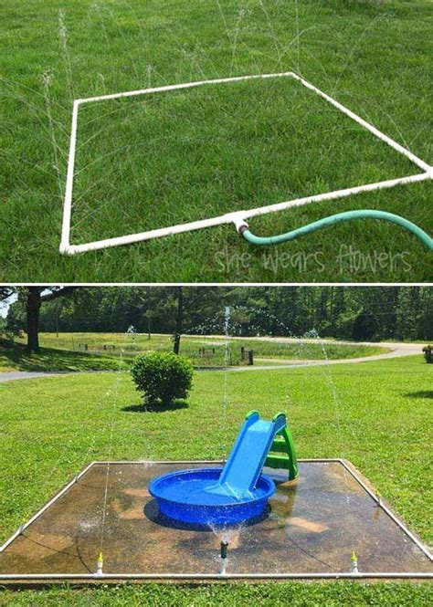 diy backyard fun best 25 backyard splash pad ideas on pinterest