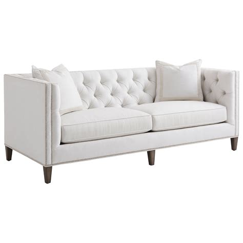 camille tufted settee lexington ariana 7569 33 camille tufted tuxedo sofa john