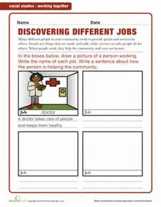 different types of jobs worksheet education com