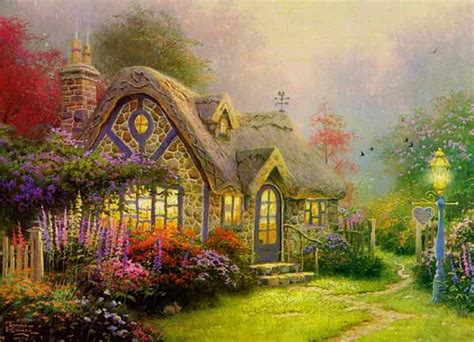 the cottage painting kinkade mug