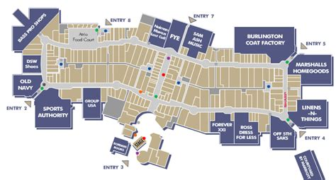 layout of dolphin mall dolphin mall south florida finds