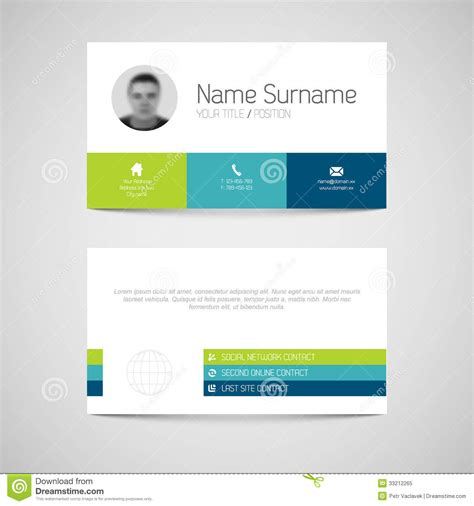 plain business card template word modern business card template with flat user interface
