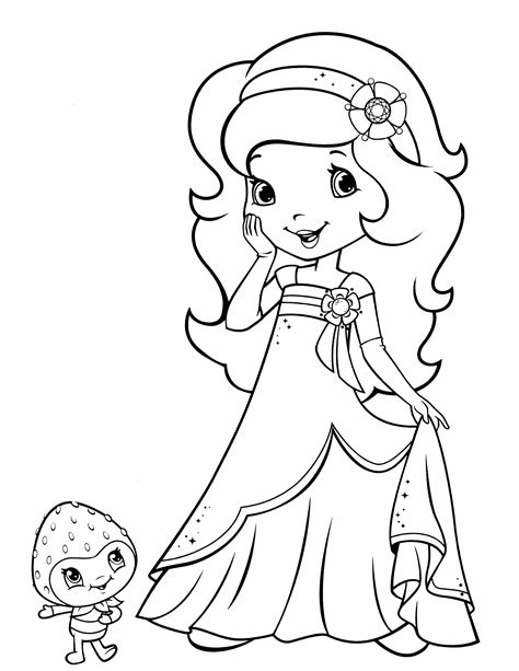 Strawberry Shortcake Coloring Page To Print 1000 Images 1000 Coloring Pages To Print