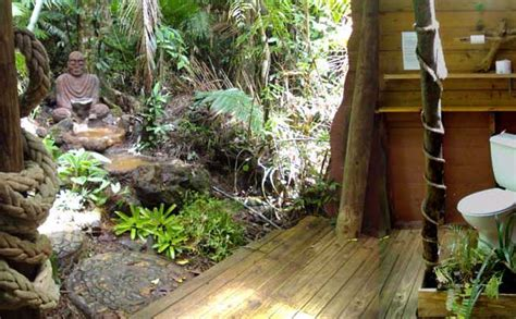 rainforest bathroom bungalows at cape tribulation rainforest hideaway b b