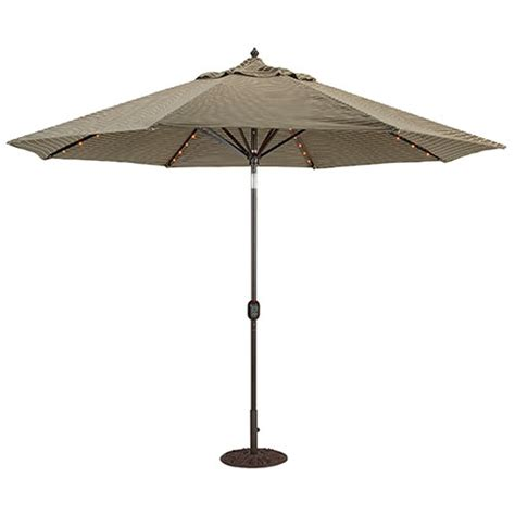 6 Ft Patio Umbrellas On Sale by 11 Lighted Patio Umbrella Auto Tilt By Galtech