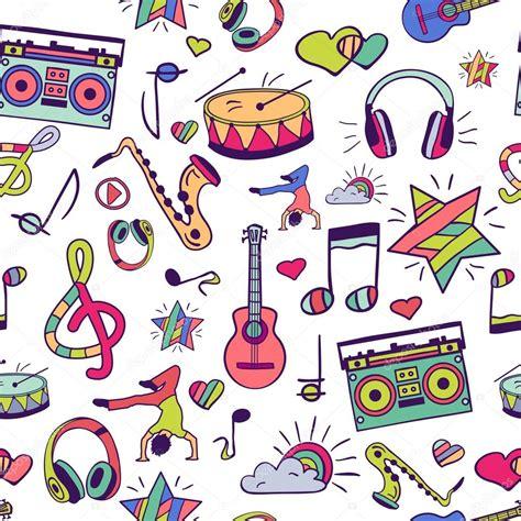 imagenes de notas musicales kawaii notes instruments de musique musique image vectorielle