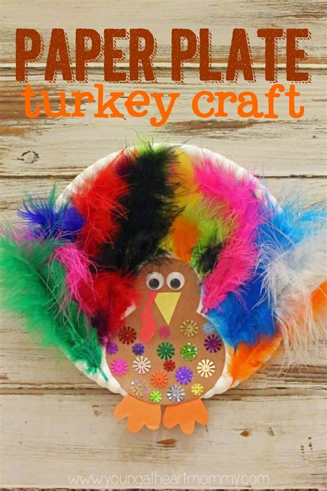 paper plates craft paper plate feathered turkey craft at