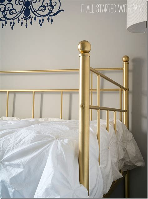 spray painting metal bed frame gold bed frame created with spray paint