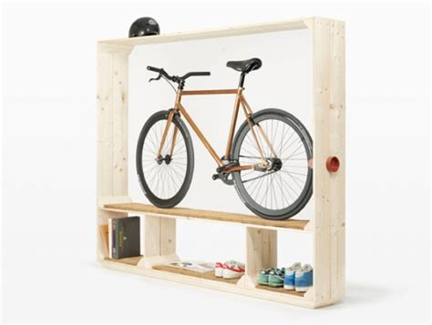 minimalist shelving unit creatively putting your bicycle