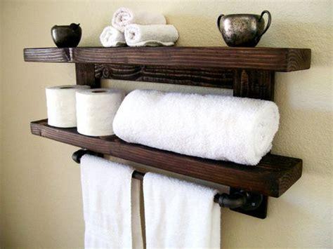 wooden bathroom towel rack shelf rustic wall shelf wood shelf floating shelves towel rack