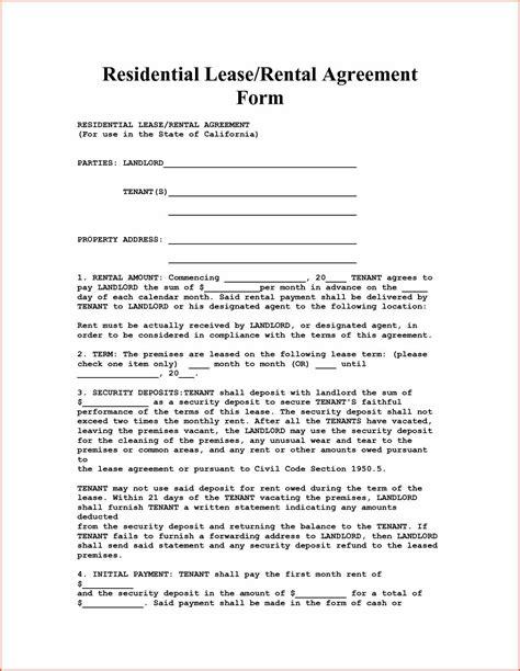 Apartment Rental Forms California Apartment Rental Agreement Proposalsheet