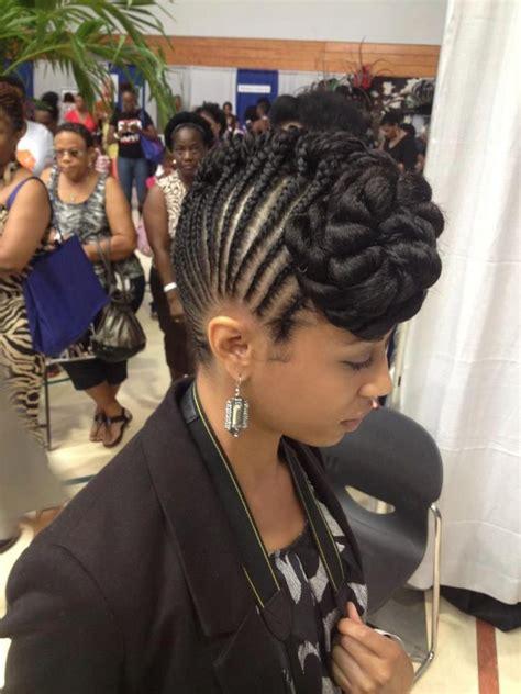corn roll up dos hot updo goddess braids protective styles pinterest