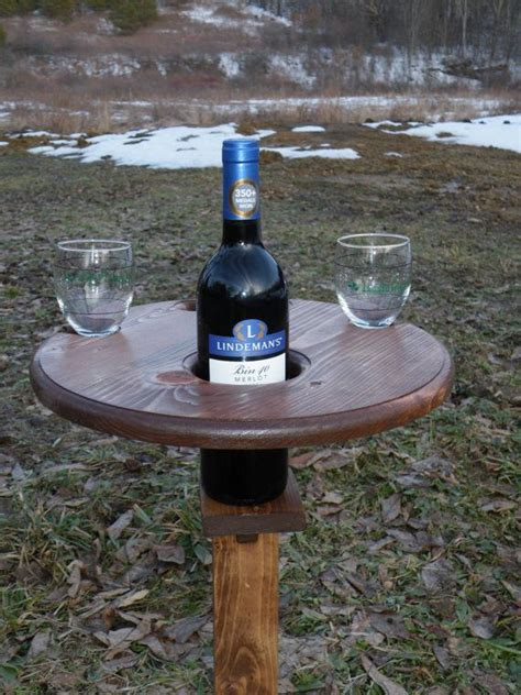 outdoor wine glass holder table outdoor wine table picnic table wine glass and bottle