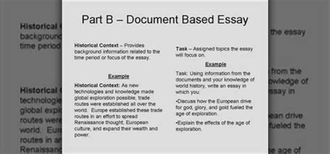 How To Write A Dbq Essay by How To Write A Dbq Or Document Based Question Essay 171 Teaching Wonderhowto