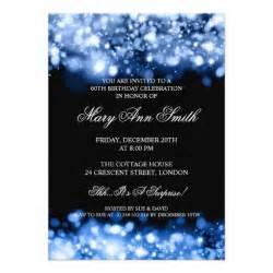 elegant 60th birthday party blue sparkling lights 5 quot x 7
