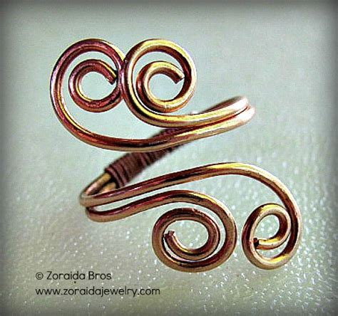 how to make wire jewelry rings easy adjustable spiral ring tutorial z jewelry