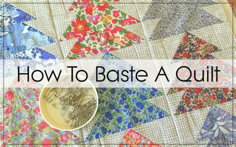 How To Baste A Quilt For Machine Quilting how to baste a quilt pins and spray blossom quilts