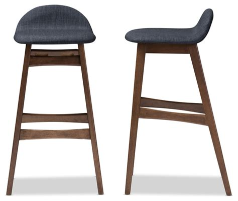 Blue Bar Stools Kitchen Furniture Bloom Walnut Wood Finishing 30 Inches Bar Stool Set Of 2 Midcentury Bar Stools And Counter