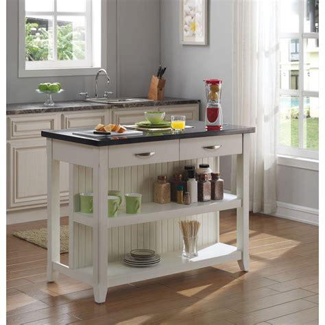tresanti    server kitchen island  granite countertop  white ki