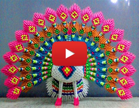 3d Origami Peacock - pleasing 3d origami peacock 2018