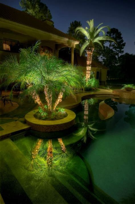 Pool Landscape Lighting Backyard Swimming Pool Landscaping Ideas Of Design
