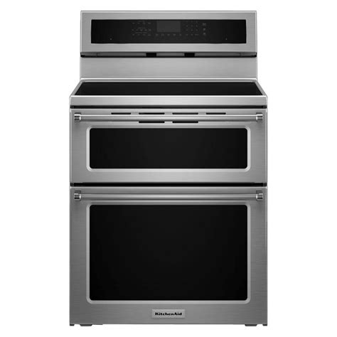 electric induction oven range kitchenaid 30 in 6 7 cu ft oven electric induction range with self cleaning convection