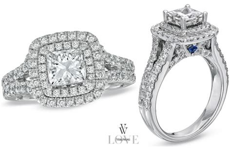 vera wang princess cut rings bridal