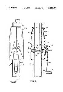 Patio Umbrella Crank Parts Patent Us5437297 Crank Handle Assembly For Use In An