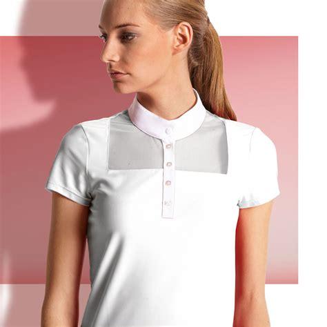 Ester Shirt equiline ester competition shirt white redpost equestrian