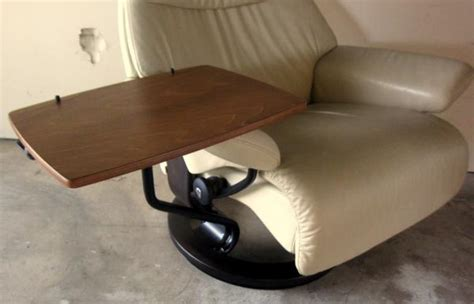 recliner desk ekornes stressless computer laptop pc table desk recliner