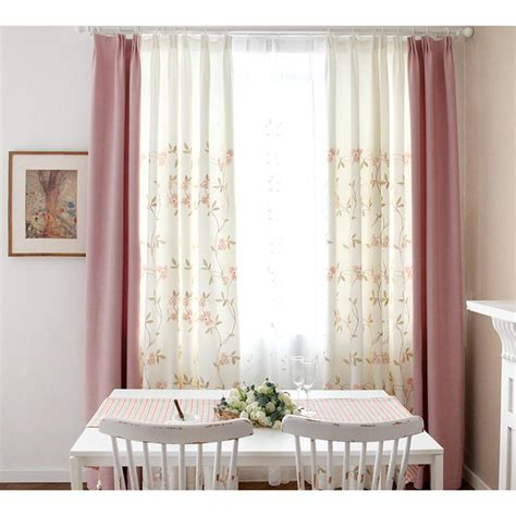 pink and white curtains for nursery pink and white floral pastoral floor to ceiling nursery curtains