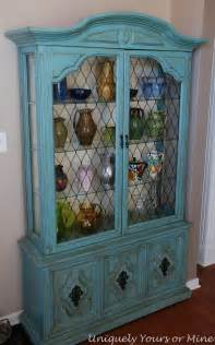 Shabby Chic China Hutch Painted China Cabinet Uniquely Yours Or Mine