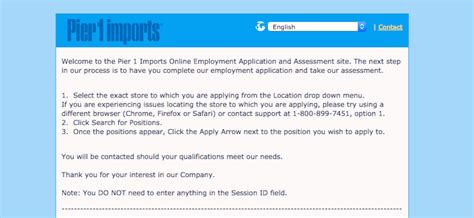 pier 1 imports application form application