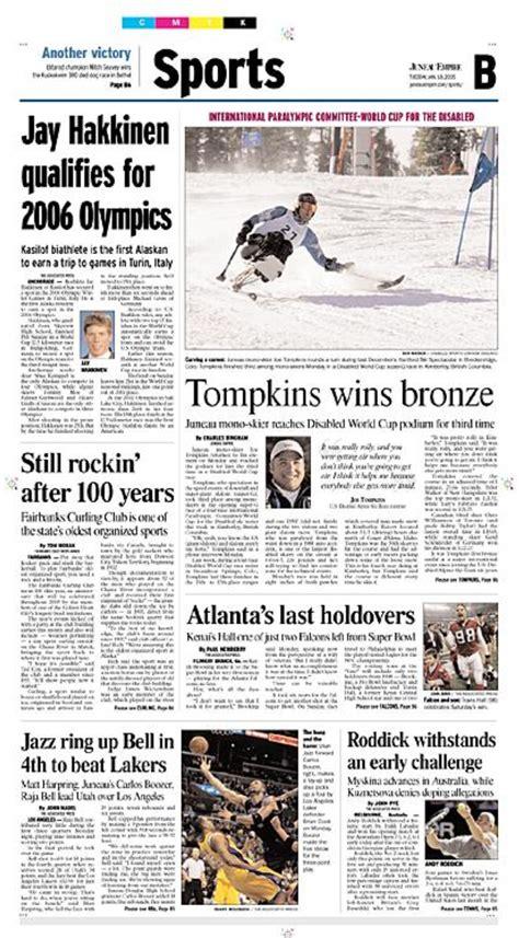 A News Paper - newspaper page design charles bingham