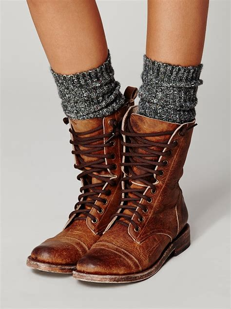 lace up boot freebird by steven fletch lace up boot in brown lyst