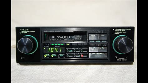 cassette car stereo vintage kenwood krc 8001 am fm cassette car stereo