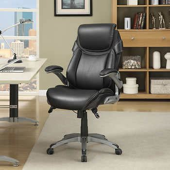 True Innovations Simply Comfortable Bonded Leather Executive Chair by Dormeo Octaspring Bonded Leather Manager Office Chair By
