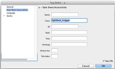 creating css rules in dreamweaver dreamweaver tutorial add a jquery lightbox to dreamweaver