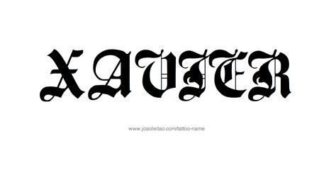xavier tattoo fonts xavier name designs