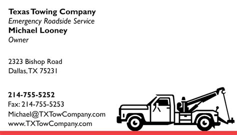 tow truck business card template tow truck business cards images business card template