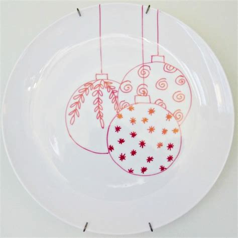 christmas sharpie plates debbiedoos
