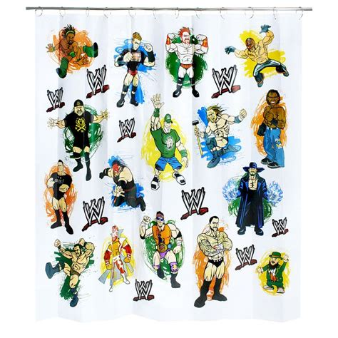 wwe bathroom shower curtain wwe shower curtain wwe new house pinterest wwe