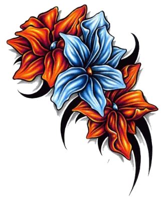 tattoo color png free flower tattoo png transparent images download free
