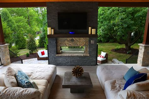 Putting It Together An Outdoor Room by Outdoor Living Room Ideas Bar Island Fireplace Living Room